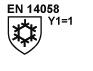 EN 14058, y = 1